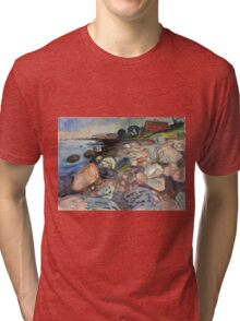 Edvard Munch - Shore With Red House Tri-blend T-Shirt