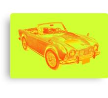 Triumph Tr4  Sports Car Pop art Design Canvas Print