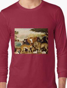 Edward Hicks - The Peaceable Kingdom  Long Sleeve T-Shirt