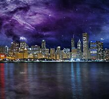 Spacey Chicago Skyline by Susan S. Kline
