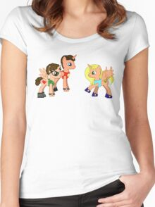 BBT Pony Women's Fitted Scoop T-Shirt