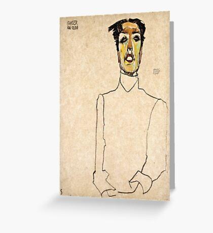 Egon Schiele - Singer Van Osen  Greeting Card