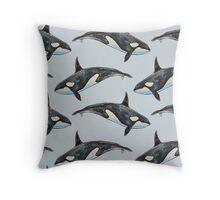 Orca on blue Throw Pillow