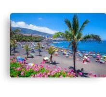 Garden beach  Canvas Print