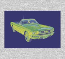 1965 Ford Mustang Convertible Pop Image Kids Clothes