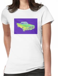 1965 Ford Mustang Convertible Pop Image Womens Fitted T-Shirt