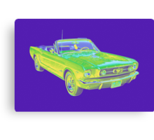1965 Ford Mustang Convertible Pop Image Canvas Print