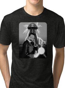Mr. Clark as Nikola Tesla Tri-blend T-Shirt