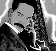 Mr. Clark as Nikola Tesla Sticker