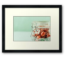 Jar Of Red Fresh Cherries Framed Print