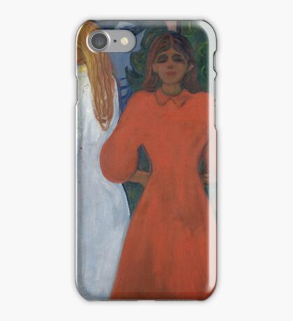 Edvard Munch - Red And White iPhone Case/Skin