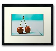 Fresh Red Cherry Fruit Framed Print