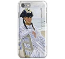 Claude Monet - On The Beach At Trouville  iPhone Case/Skin