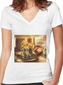 Vivi & Zidane Women's Fitted V-Neck T-Shirt