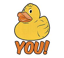 Duck You Funny Slogan Photographic Print
