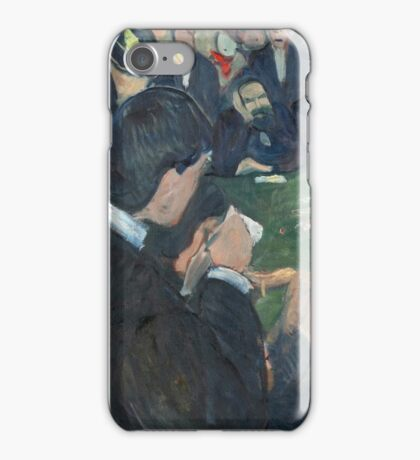 Edvard Munch - At The Roulette Table In Monte Carlo iPhone Case/Skin