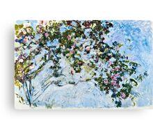 Claude Monet - Roses 1825  Canvas Print