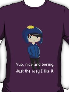 Yup, nice and boring. Just the way I like it. T-Shirt
