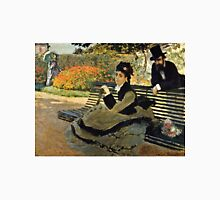 Claude Monet - Camille Monet On A Garden Bench 1873  Unisex T-Shirt