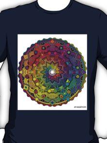 "Mandala 59 ""Time Dilation"" Rainbow Multicoloured T-Shirt"