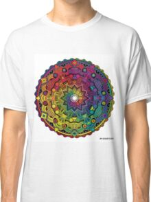 "Mandala 59 ""Time Dilation"" Rainbow Multicoloured Classic T-Shirt"