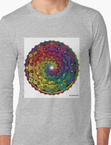 "Mandala 59 ""Time Dilation"" Rainbow Multicoloured Long Sleeve T-Shirt"