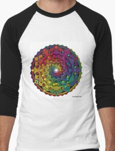 "Mandala 59 ""Time Dilation"" Rainbow Multicoloured Men's Baseball ¾ T-Shirt"