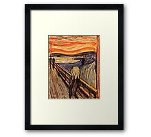 Edvard Munch - The Scream 1893  Framed Print