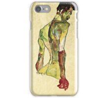 Egon Schiele - Male Nude In Profile Facing Right  iPhone Case/Skin