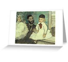 Edgar Degas - Comte Le Pic And His Sons Greeting Card