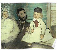 Edgar Degas - Comte Le Pic And His Sons Poster