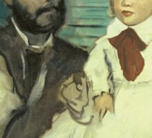 Edgar Degas - Comte Le Pic And His Sons Sticker