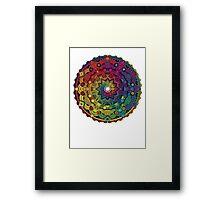 "Mandala 59 ""Time Dilation"" Rainbow Multicoloured Framed Print"