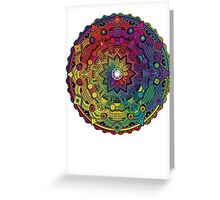"Mandala 59 ""Time Dilation"" Rainbow Multicoloured Greeting Card"