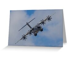 A400M Atlas military transport aircraft Greeting Card