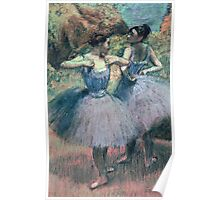 Edgar Degas - Dancers In Violet Poster
