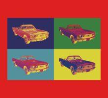 1965 Ford Mustang Convertible Pop Art Design T-Shirt