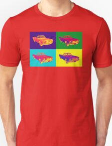 1965 Ford Mustang Convertible Pop Art Design T-Shirt