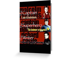 The Captain, The Superhero, and The Writer Quotes Greeting Card