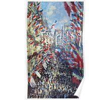 Claude Monet - The Rue Montorgueil Paris Poster