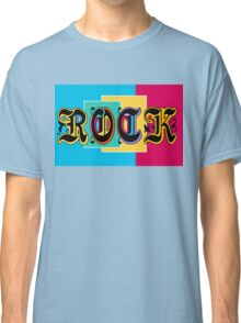 Colorful Happy Cool Rock Music Graphic Design Classic T-Shirt
