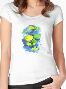 Water Lillies Women's Fitted Scoop T-Shirt