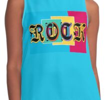 Colorful Happy Cool Rock Music Graphic Design Contrast Tank