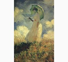 Claude Monet - Woman With A Parasol Also Known As Study Of A Figure Outdoors Facing Left Unisex T-Shirt