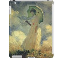 Claude Monet - Woman With A Parasol Also Known As Study Of A Figure Outdoors Facing Left iPad Case/Skin