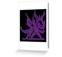 Spyro the Dragon -- Black and Purple Greeting Card