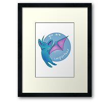 Zubat thinks you're important Framed Print