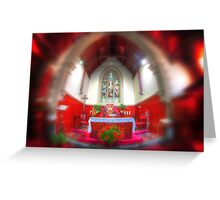 The red chapel Greeting Card
