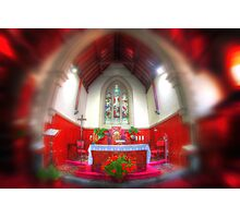 The red chapel Photographic Print