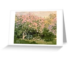 Claude Monet - Lilac In The Sun 1873  Greeting Card